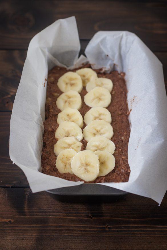 Bánh Mì Chuối (Banana Bread) Hạnh Nhân Cacao Thuần Chay (Không Dầu)